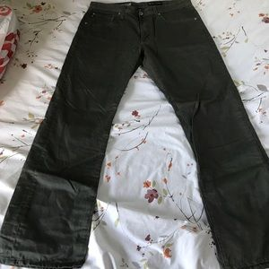 Adriano Goldschmied men's army green jeans